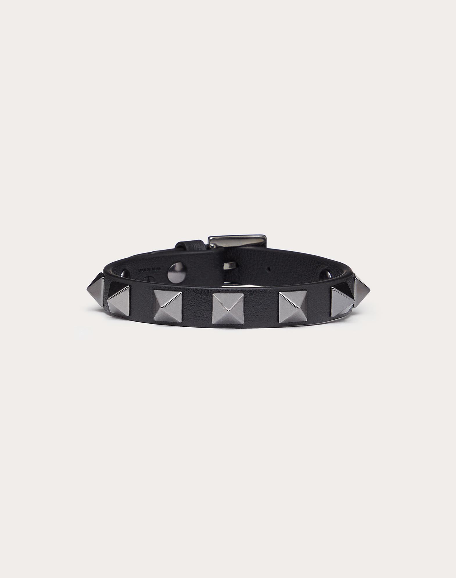 Кожаный браслет Rockstud с заклёпками и рутениевым покрытием