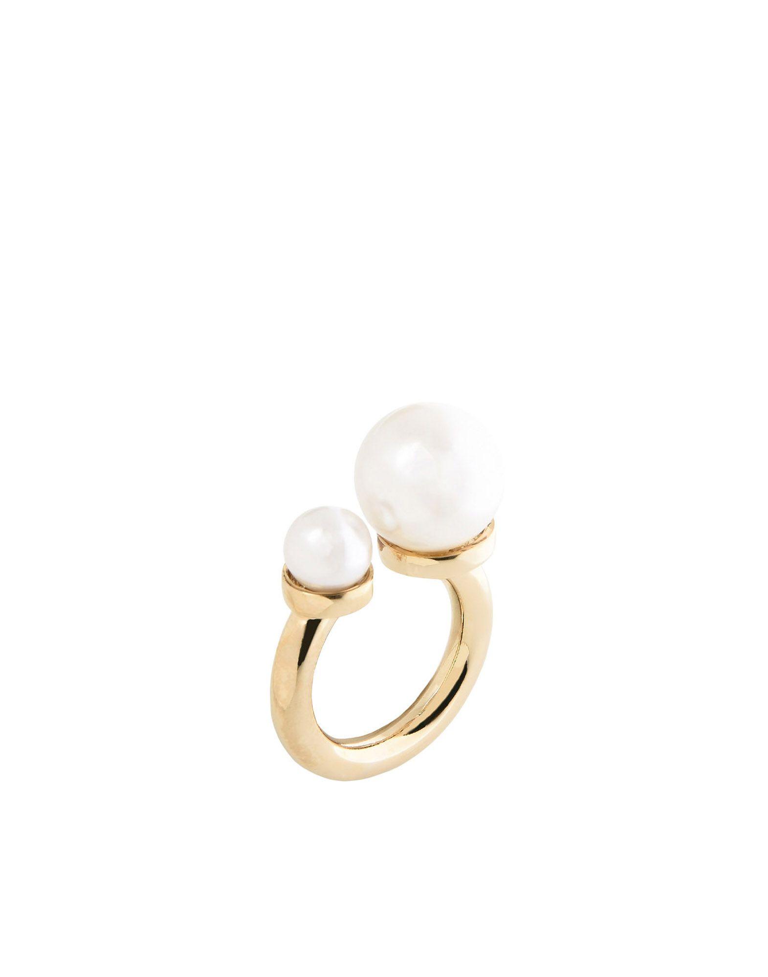 《セール開催中》SHARRA PAGANO レディース 指輪 アイボリー 15 真鍮/ブラス / ポリウレタン