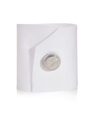 LANVIN Rhodium-plated metal button covers Cufflinks U f