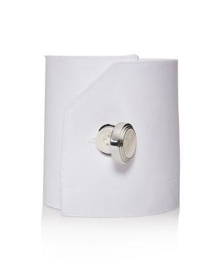 LANVIN Rhodium-plated metal button covers Cufflinks U r