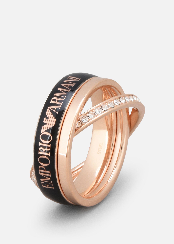 Emporio Armani Rings Item 50198135 In Black