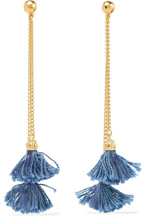 BEN-AMUN Gold-plated tassel earrings