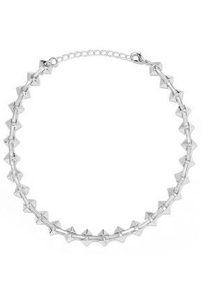 NOIR JEWELRY Silver-tone enamel choker