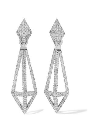 NOIR JEWELRY Blarney silver-tone crystal earrings