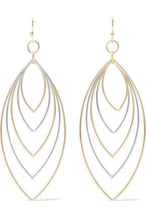 KENNETH JAY LANE Gold and silver-tone earrings
