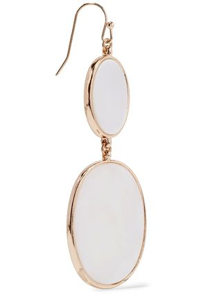 KENNETH JAY LANE Gold-tone resin earrings
