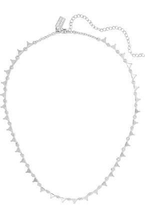 ARME DE L'AMOUR Triangle silver-tone necklace