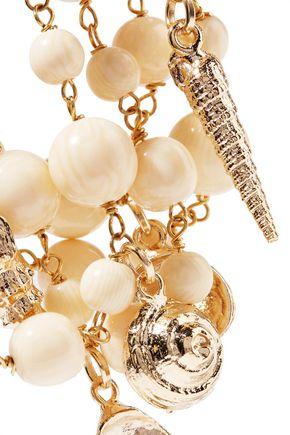 ROSANTICA Gold-tone beaded charm bracelet