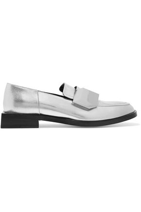 PIERRE HARDY Metallic textured-leather loafers
