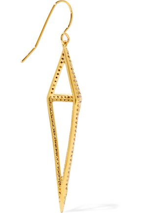 NOIR JEWELRY Montaillou gold-tone crystal earrings