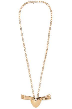 AURÉLIE BIDERMANN Hammered gold-tone necklace