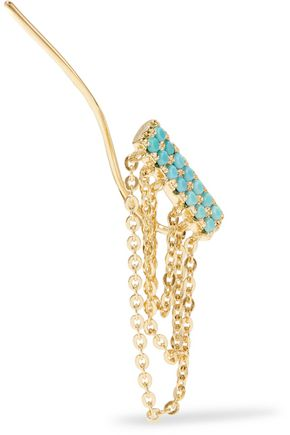 NOIR JEWELRY Gold-tone stone earrings