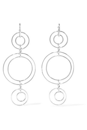 NOIR JEWELRY Silver-tone earrings