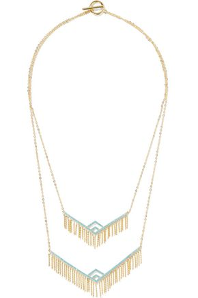 NOIR JEWELRY Gold-tone stone necklace