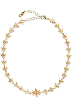 NOIR JEWELRY Gold-tone crystal choker