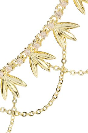 NOIR JEWELRY Gold-tone crystal choker