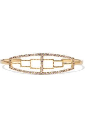 ELIZABETH AND JAMES Kota gold-plated topaz cuff
