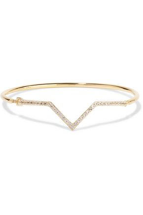 ELIZABETH AND JAMES Edo gold-tone crystal cuff