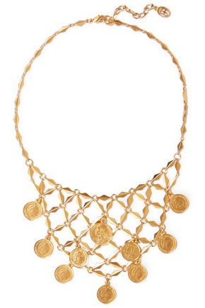 BEN-AMUN Gold-tone charm necklace