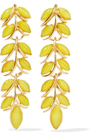 BEN-AMUN Gold-plated resin earrings