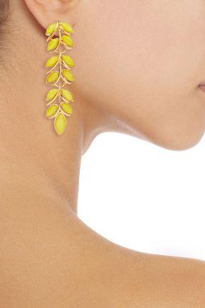 BEN-AMUN Gold-plated resin earrings