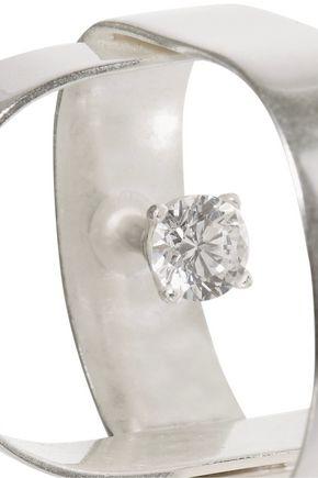 MAISON MARGIELA Silver-tone cubic zirconia ring