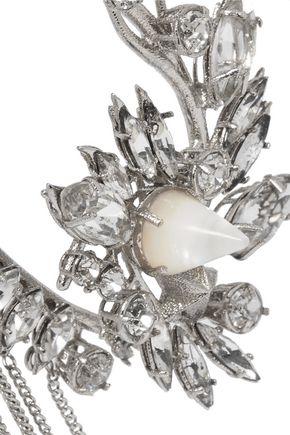 GIVENCHY Silver-tone crystal ear cuff