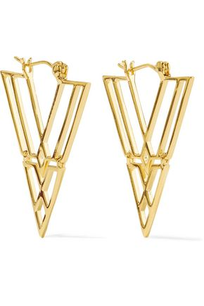 NOIR JEWELRY Clan gold-tone earrings