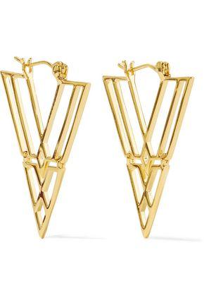 NOIR JEWELRY Clan gold-tone earrings