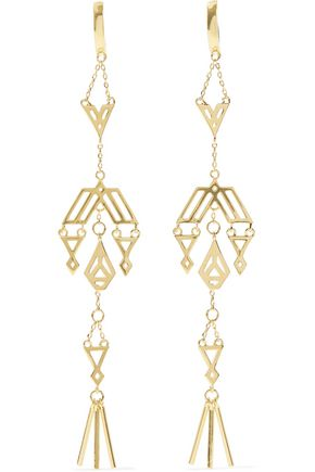 NOIR JEWELRY Zapotec gold-tone earrings