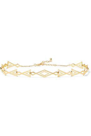 NOIR JEWELRY Inca gold-tone necklace