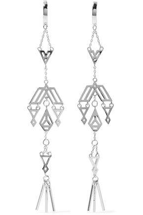 NOIR JEWELRY Zapotec silver-tone earrings