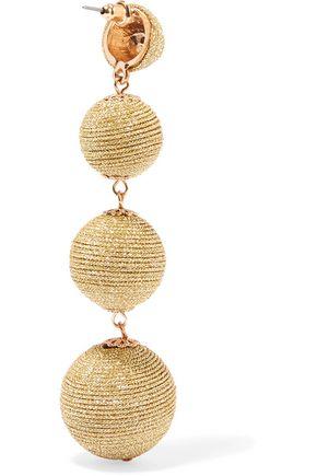 KENNETH JAY LANE Metallic cord earrings