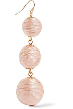 KENNETH JAY LANE Gold-tone woven earrings