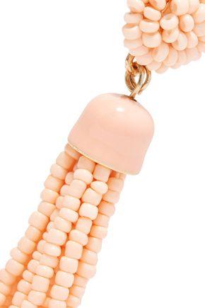 KENNETH JAY LANE Angel Skin gold-tone beaded earrings