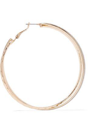 KENNETH JAY LANE Gold-tone glittered enamel earrings