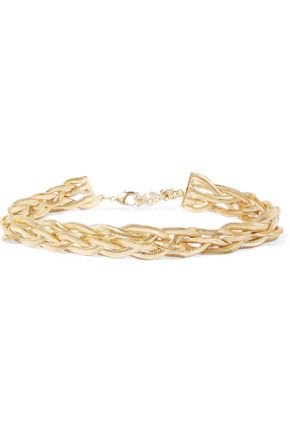ROSANTICA Braided gold-tone necklace