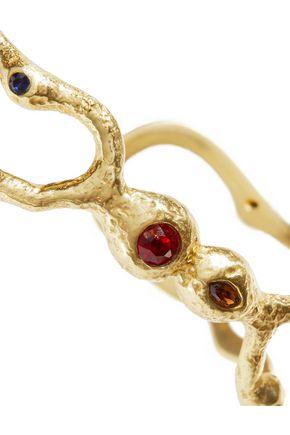 MAJE Gold-tone crystal cuff