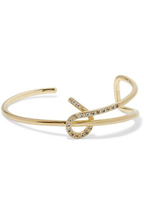 ELIZABETH AND JAMES Lucent gold-tone crystal bracelet