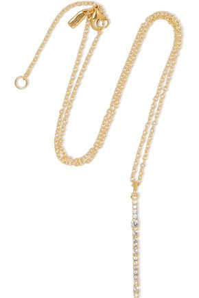 ELIZABETH AND JAMES Twiggy gold-tone crystal necklace