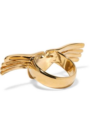 AURÉLIE BIDERMANN Hammered gold-tone ring