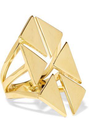 NOIR JEWELRY Rivoli gold-tone ring