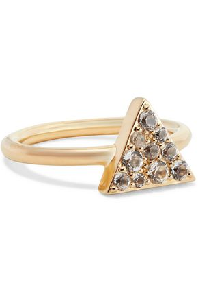 ELIZABETH AND JAMES Valencia gold-tone crystal ring