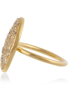 ELIZABETH AND JAMES Constance gold-plated topaz ring
