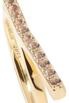 ELIZABETH AND JAMES Logan gold-tone crystal ring
