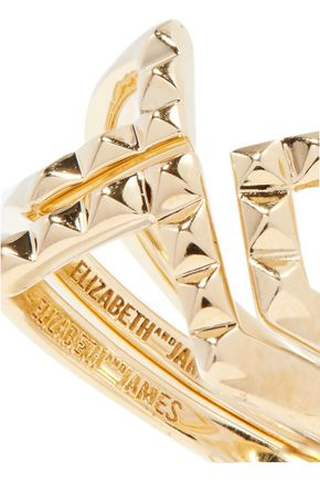 ELIZABETH AND JAMES Kuril set of two gold-tone rings