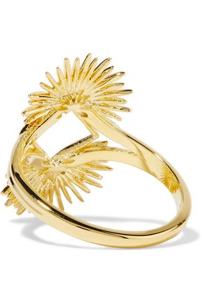 NOIR JEWELRY Gold-plated ring