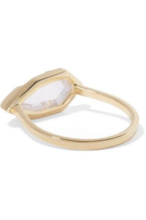 NOIR JEWELRY White Glow gold-tone crystal ring