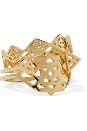 NOIR JEWELRY Aztec set of three gold-tone rings