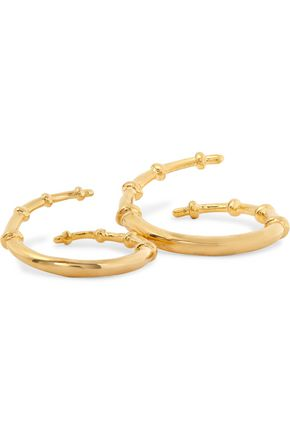 ARME DE L'AMOUR Skinny Horn gold-plated set of two rings